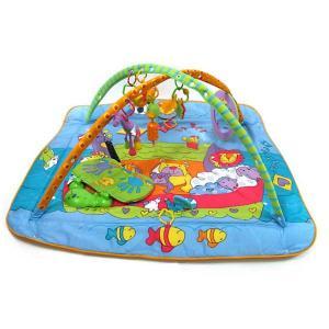 Развивающий коврик  Музыкальный с игровой подушечкой Зоосад Tiny Love