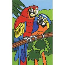 Набор для раскрашивания мини Попугаи Reeves