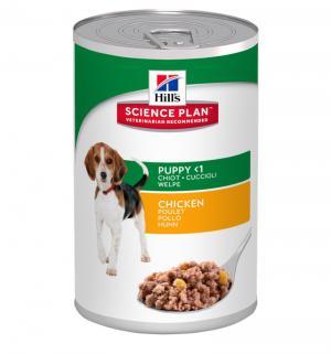 Влажный корм Hills Science Plan для щенков мелких и средних пород, курица, 370г Hill's