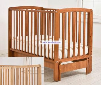 Детская кроватка  Бьянка продольный маятник Angela Bella