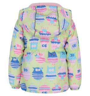 Комплект куртка/полукомбинезон , цвет: желтый/розовый Bony Kids