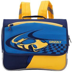 Рюкзак детский , синий - желтый Grizzly