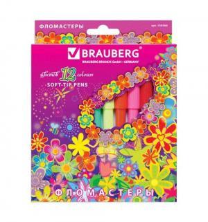 Фломастеры  Blooming flowers Brauberg