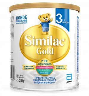Молочная смесь  Gold 3 с 12 мес, 400 г Similac