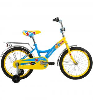 Детский велосипед  City Girl 18, цвет: желтый/синий Altair