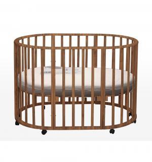 Круглая кроватка  Genesis Gallileo 3 в 1, цвет: орех Daka Baby