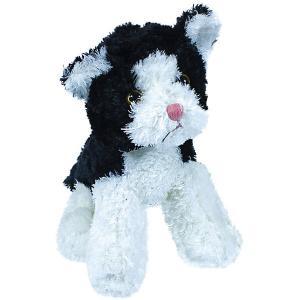 Мягкая игрушка  котенок, черно-белый, 23 см Teddykompaniet. Цвет: черный