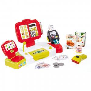 Электронная касса с аксесуарами, 27 предметов, Smoby