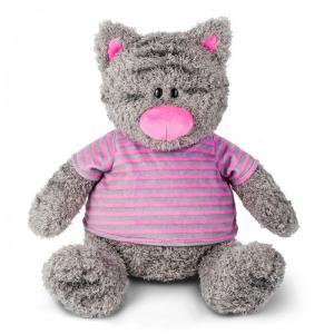 Мягкая игрушка  Серый Кот в Полосатой Майке 25 см Maxitoys