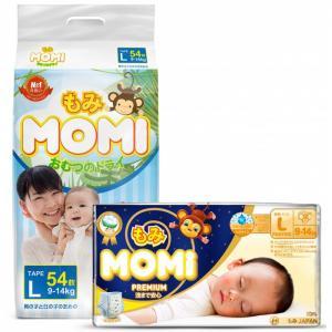 Набор Подгузники L и Ночные трусики премиум (9-14 кг) Momi