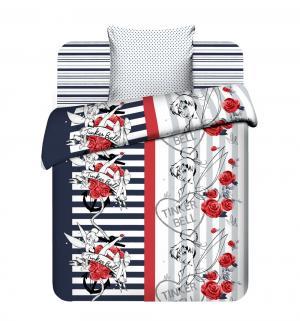 Комплект постельного белья  Фея Динь-Динь, цвет: синий/красный Василек