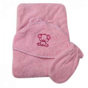 Полотенце-уголок с рукавичкой Топотушки