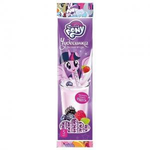 Драже  со вкусом лесных ягод в соломинке для молока, 30 г My Little Pony