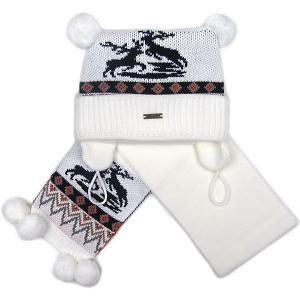 Комплект : шапка и шарф Gakkard. Цвет: белый
