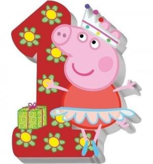 Свеча  №1 8 см Peppa Pig