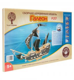 Сборная деревянная модель  Галеон Wooden Toys
