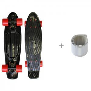 Скейтборд TLS-401 Черный/Мятный и светоотражатель браслет Чудо-чадо Triumf Active