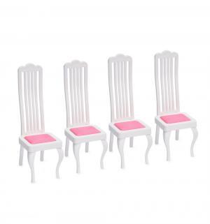 Мебель для кукол  Стулья, 4 шт. Огонек