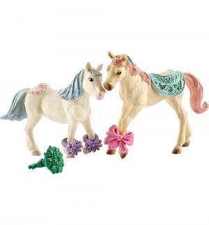 Игровой набор  Лошадки с украшениями и кормом Schleich