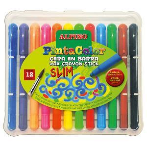 Восковые акварельные карандаши PINTACOLOR SLIM, 12 цветов ALPINO. Цвет: разноцветный