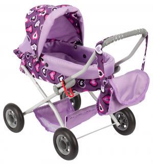 Коляска для кукол  Ева фиолетовая Wakart