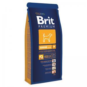 Сухой корм  Premium для собак в возрасте средних пород, курица, 15кг Brit