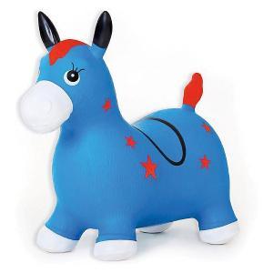 Лошадка надувная-попрыгун , синяя Fresh Trend