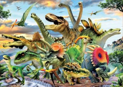 Пазл Динозавры 500 деталей Educa