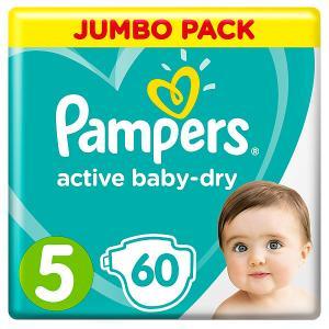Подгузники  Active Baby-Dry 11–16 кг, 60 шт Pampers. Цвет: weiß/beige