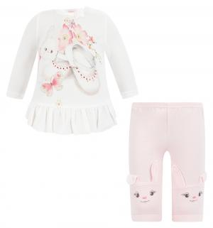 Комплект джемпер/брюки , цвет: бежевый/розовый Sofija