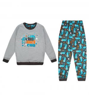 Пижама джемпер/брюки  Chameleon, цвет: бирюзовый/серый Cornette