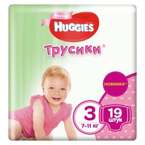 Трусики-подгузники  Pants 3 для девочек (7-11 кг) 19 шт. Huggies