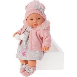 Кукла  Хуана, плачет, 37 см Munecas Antonio Juan. Цвет: розовый