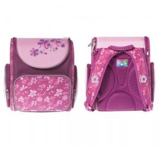 Ранец  Flowers розовый/фиолетовый 28х32х13 см Silwerhof