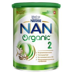 Молочная смесь  Organic 2 с 6 месяцев, 400 г Nan