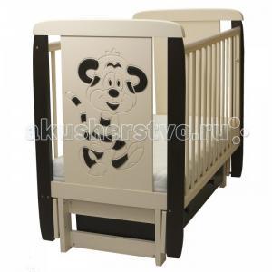 Детская кроватка  05 Тигренок 3D с ящиком (поперечный маятник) Соня