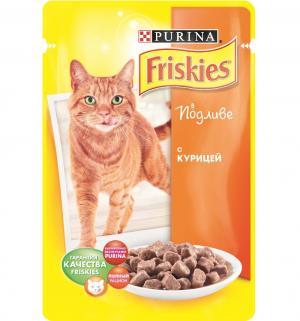 Корм влажный  для взрослых кошек, курица, 100г Friskies