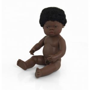 Кукла Baby Doll african boy Polybag 38 см Miniland
