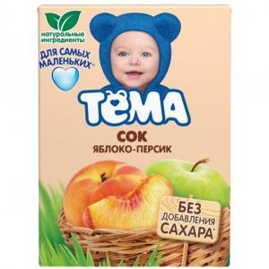 Сок  яблоко-персик, 200 мл Тема