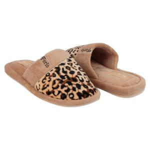 Тапочки  Леопард, цвет: коричневый Forio
