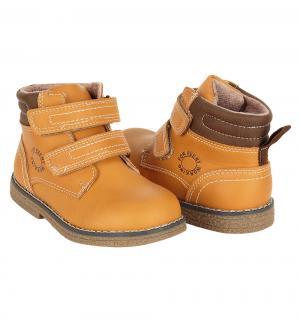 Ботинки , цвет: желтый Прыг-Скок