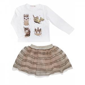 Комплект для девочки (лонгслив, юбка) 3227 Baby Rose