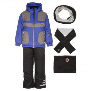 Комплект (куртка, брюки, шарф, манишка) DEUX PAR. Цвет: фиолетовый:черный