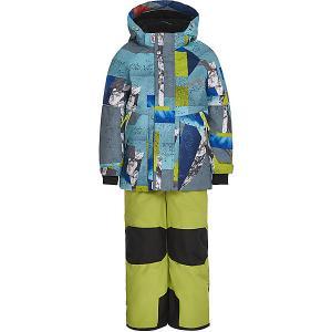 Комплект Oldos Драго: куртка и полукомбинезон. Цвет: голубой