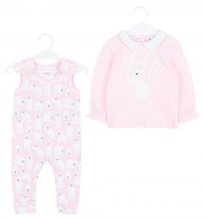 Комплект кофта/ползунки  Мишки, цвет: розовый Umka