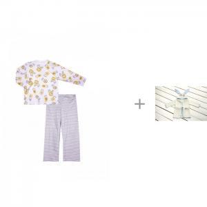 Пижама Львенок (кофта и штанишки) с халатом TwinklBaby Fun Dry Зайки КотМарКот