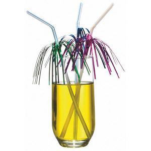 Трубочки для коктейля  Дождь 10 шт, разноцветные с фольгой Susy Card