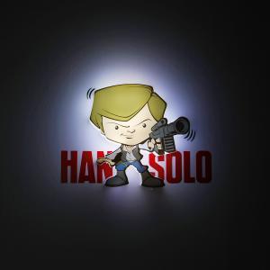 Пробивной мини 3D светильник Хан Соло, Звёздные Войны Детское время