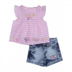 Комплект для девочки туника, шорты 3134 Baby Rose