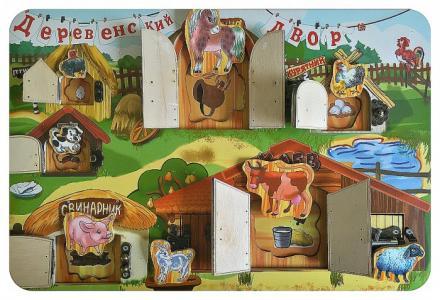 Развивающая игрушка  Замочки Деревенский двор 7820 Бэмби